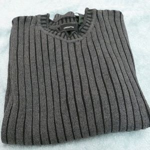 Claiborne Gray Crew Neck Pullover Sweater sz L